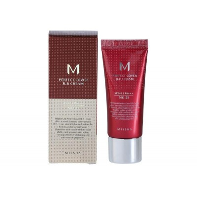 "ББ крем MISSHA M Perfect Cover BB Cream (SPF42/PA+++) Color - 21 ""Light Beige"" - 20 мл"