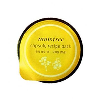 Питающая маска для лица с медом INNISFREE Capsule Recipe Pack 12 Type, Canola Honey (wash off pack)
