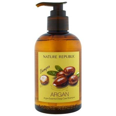 Шампунь для волос с аргановым маслом NATURE REPUBLIC Argan Essential Deep Care Shampoo