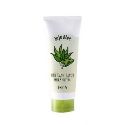 Пенка для умывания с алоэ SKIN79 Jeju Aloe Aqua Foam Cleanser - 150 мл