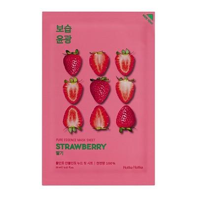 Тканевая маска с клубникой HOLIKA HOLIKA Pure Essence Mask Sheet - Strawberry