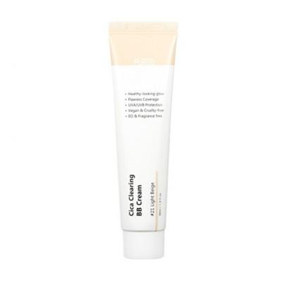 BB-крем для естественного сияющего вида и надёжной защиты от ультрафиолетовых лучей типа UVA / UVB PURITO Cica Clearing BB Cream Color 21 Light Beige - 30 мл