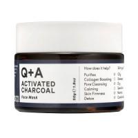Глиняная маска для лица с углем Q+A Activated Charcoal Face Mask - 50 г