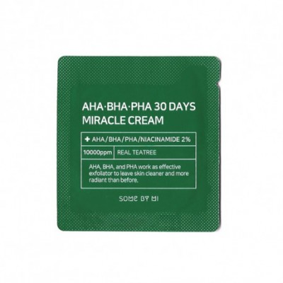 Кислотный крем для лица SOME BY MI AHA BHA PHA 30 Days Miracle Cream - Пробник