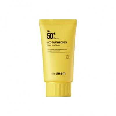 Солнцезащитный крем с легкой текстурой THE SAEM TheSaem Eco Earth Power Light Sun Cream