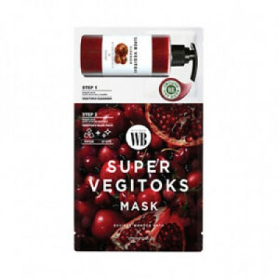 2ух ступенчатая детокс маска WONDER BATH Super Vegitoks Mask Red