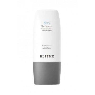 Легкий солнцезащитный крем на основе физических фильтров BLITHE Airy Sunscreen - 50 мл