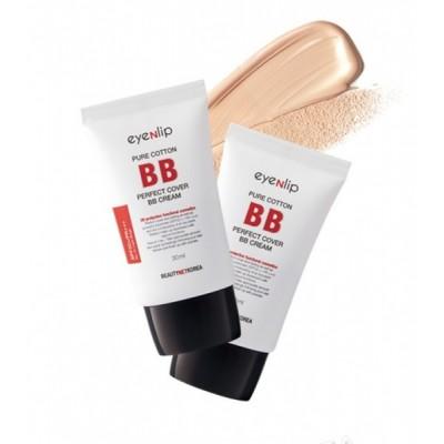 ББ крем с гиалуроновой кислотой EYENLIP Pure Cotton Perfect Cover BB Cream (SPF50+/PA+++) - Color 21