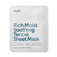 Восстанавливающая тканевая маска с керамидами KLAIRS Rich Moist Soothing Tencel Sheet Mask - 25 мл