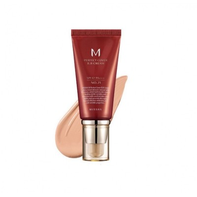 "ББ крем MISSHA M Perfect Cover BB Cream (SPF42/PA+++) Color - 21 ""Light Beige"" - 50 мл"
