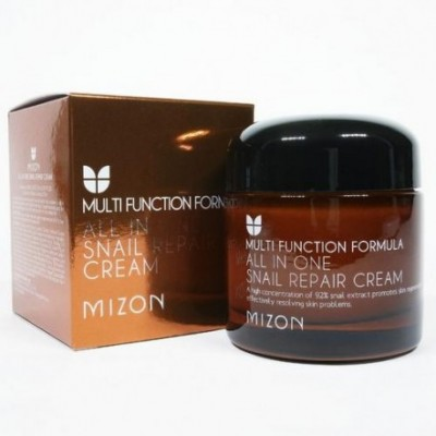 Улиточный крем для лица MIZON All in One Snail Repair Cream - 75ml