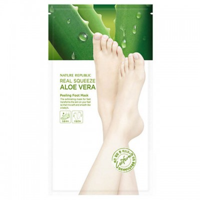 Пилинг-носочки NATURE REPUBLIC Real Squeeze Aloe Vera Peeling Foot Mask
