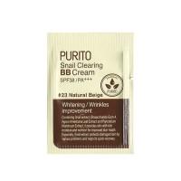 ББ крем с улиткой PURITO Snail Clearing BB Cream - Natural Beige пробник