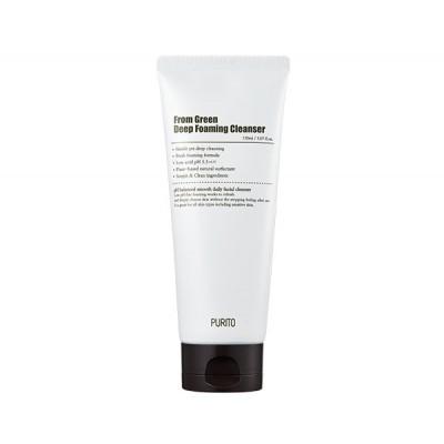 Пенка для лица с центеллой и зеленым чаем PURITO From Green Deep Foaming Cleanser - 150 мл
