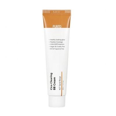 BB-крем для естественного сияющего вида и надёжной защиты от ультрафиолетовых лучей типа UVA / UVB PURITO Cica Clearing BB Cream Color 27 Sand Beige - 30 мл