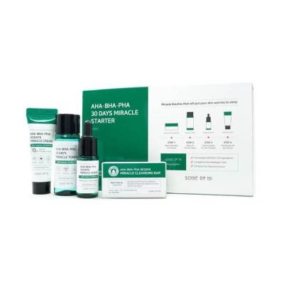 Кислотный набор для проблемной кожи SOME BY MI AHA/BHA/PHA 30 Days Miracle Stater Kit Edition
