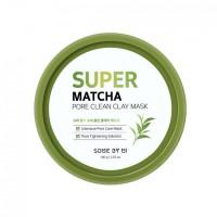 Очищающая маска на основе чая матча для безупречного вида кожи SOME BY MI Super Matcha Pore Clean Clay Mask - 100 г